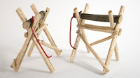 sawhorse saw horse 3d model