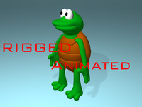 3d cartoon turtle animations model