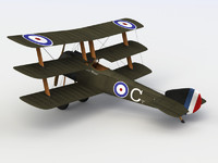 3d model sopwith triplane aircraft