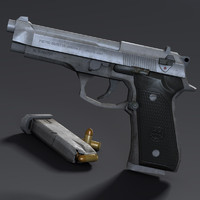 Low poly Beretta 92