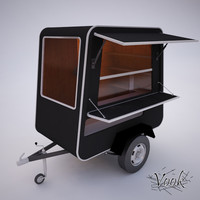 vendor wagon 3d model