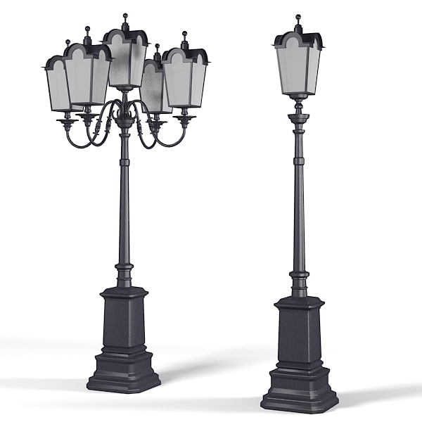 Big cast iron Street lamp post hall high traditional classic classical.jpg