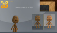 c4d sackboy boy sack