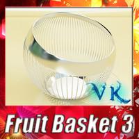 3d model fruit basket 03