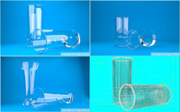 glass scenes lighting 3d 3ds
