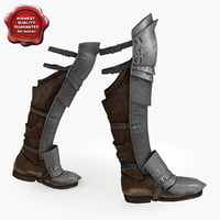Medieval Armour Boots V3