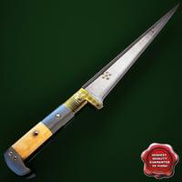3d pesh kabz dagger