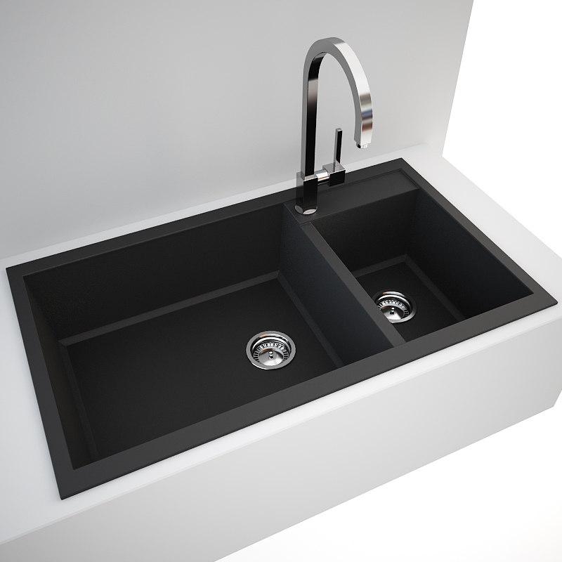 Kitchen Sink Model: 3d Sink Tap Kitchen Model