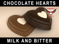 render chocolate hearts 3d max