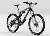 mountain bicycle 3d max
