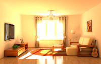interior daylight night 3d model