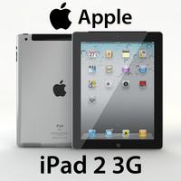 realistic ipad 2 3g 3d model