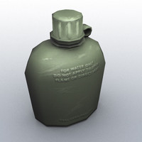 Military Canteen (Low Poly)