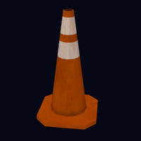 street safety cone 3d model