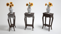 sunflower classic table 3d model