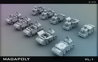3d tank armored model