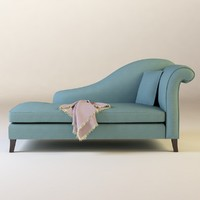 modeled sofa french 3d model