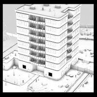 hotel street 3d model