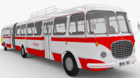 historical articulated bus 3d x