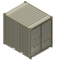 10FT ISO Shipping Container