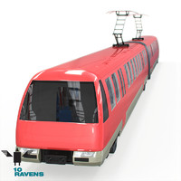 10ravens Electric city train with interier