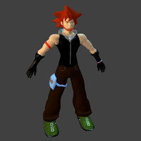 man red hair 3d model