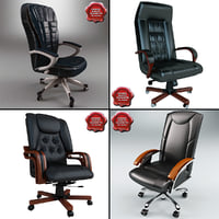 3d office chairs v3 model