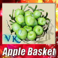 Green Apple Basket + High Resolution Textures