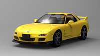 rx-7 sports car 3ds