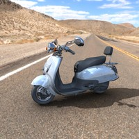 3d model of scooter