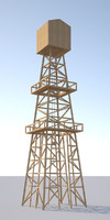 3d oil tower
