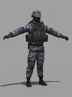 military russian 3d model