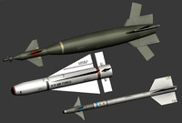 3d model air weapons missile bomb