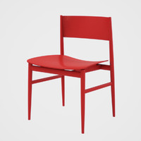 lissoni chair 3d obj