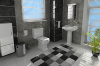 3d max bathroom room bath