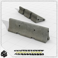 Concrete Barrier-Rocz3D