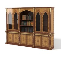 Elle Due Almaty elledue classic  oriental decorated library cabinet tarditional marquetry luxury