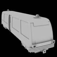 light rail train 3d lwo