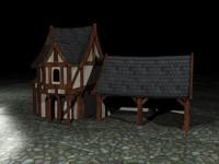 3d tudor house
