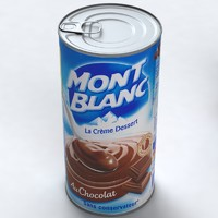 3ds max canned food chocolate