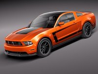 3ds max mustang boss 302 2012