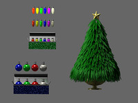 blender christmas pack tree