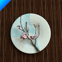 Plum Blossom In Ceramic Plate