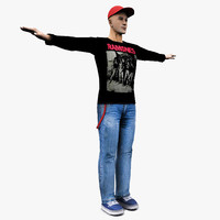 joey human male character 3d max