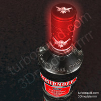 photorealistic smirnoff vodka bottle 3d dxf