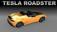 3d lw tesla roadster