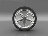 3d model of car tyre