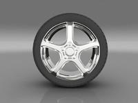 3d car tyre model
