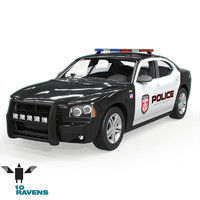 3ds max car police
