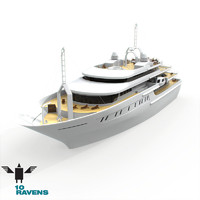 yacht luxury 3d model